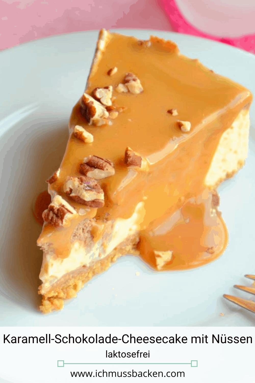 Karamell-Schokolade-Cheesecake mit Nüssen