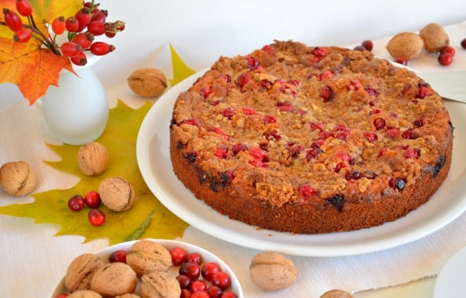 Coffee Cake mit Cranberries