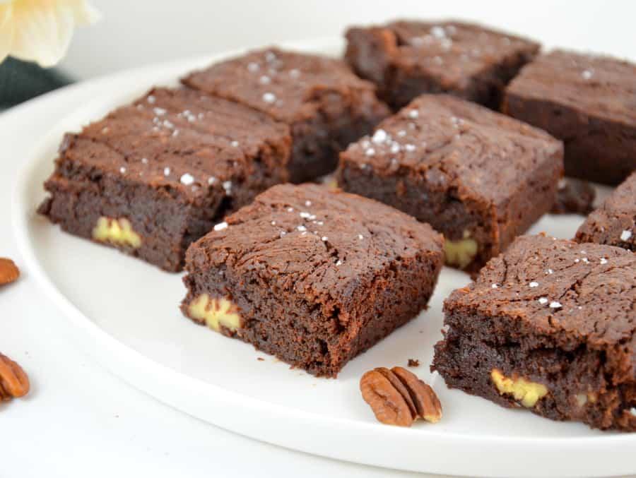 Brownies mit Pekannüssen und Meersalz