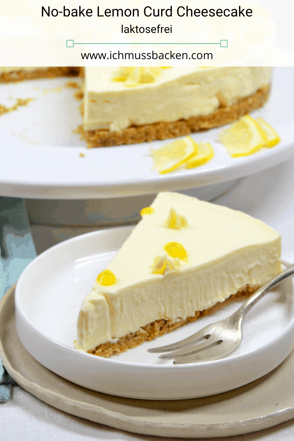 No-bake Lemon Curd Cheesecake